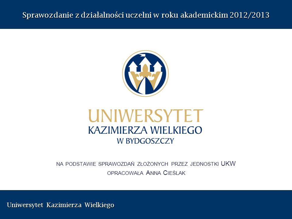 Uniwersytet Kazimierza Wielkiego Uniwersytet Kazimierza Wielkiego Sprawozdanie z dzia ł alno ś ci uczelni w roku akademickim 2012/2013 NA PODSTAWIE SP