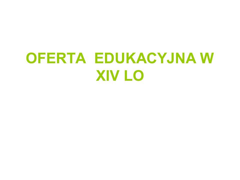 Klasa IA – dwujęzyczna Klasa I - IIIKlasa II – III- wybiera 2 przedmioty W zakresie rozszerzonym Język hiszpański/ język niemiecki Język polski Matematyka Wiedza o społeczeństwie Historia Biologia Chemia Geografia Przedmioty dodatkowe : filozofia, edukacja filmowa, psychologia (realizacja w klasie III) Wybór: marzec 2014
