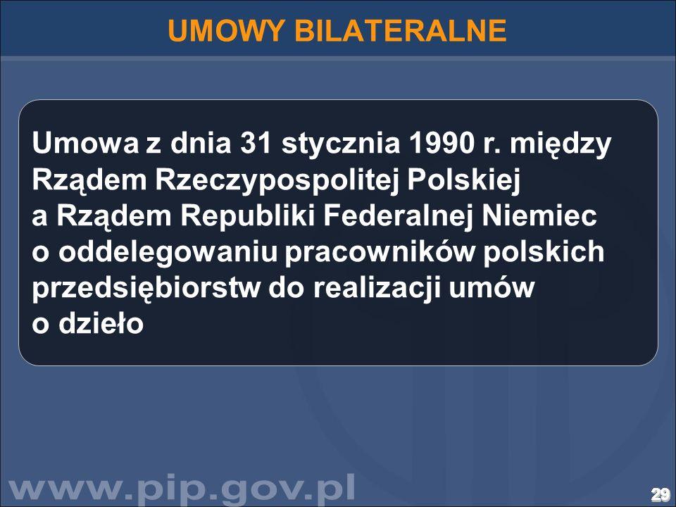 29292929292929292929292929292929292929292929292929292929 Umowa z dnia 31 stycznia 1990 r. między Rządem Rzeczypospolitej Polskiej a Rządem Republiki F