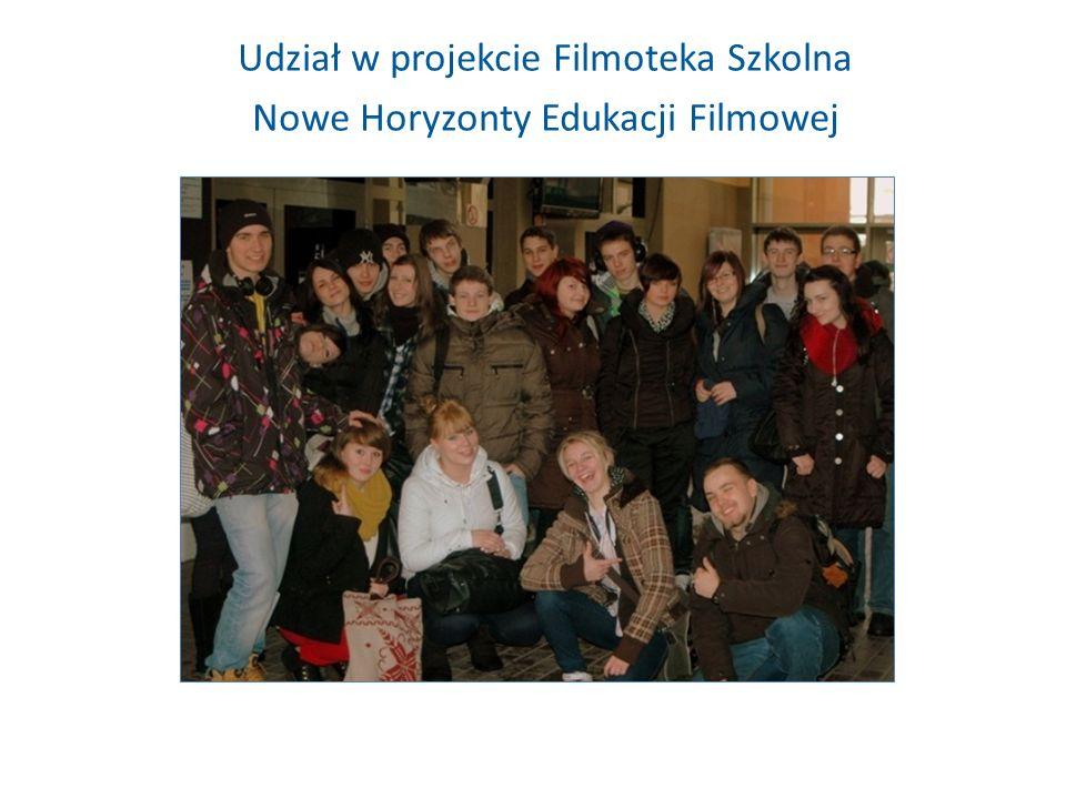 Udział w projekcie Filmoteka Szkolna Nowe Horyzonty Edukacji Filmowej