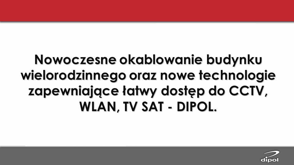 Nowoczesne okablowanie budynku wielorodzinnego oraz nowe technologie zapewniające łatwy dostęp do CCTV, WLAN, TV SAT - DIPOL.