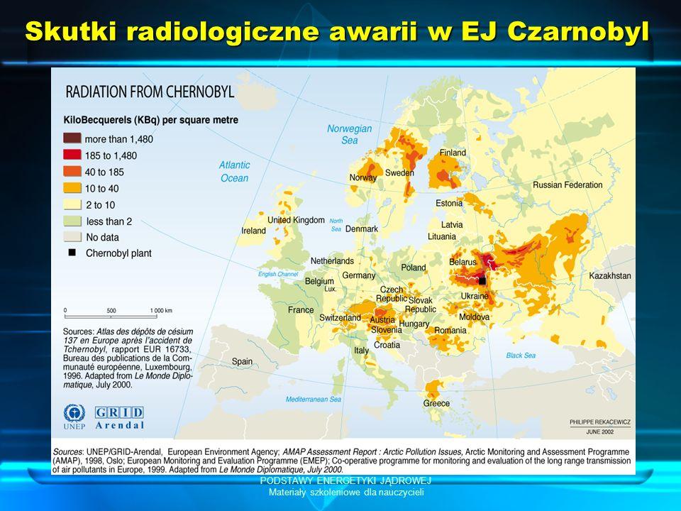 PODSTAWY ENERGETYKI JĄDROWEJ Materiały szkoleniowe dla nauczycieli Skutki radiologiczne awarii w EJ Czarnobyl