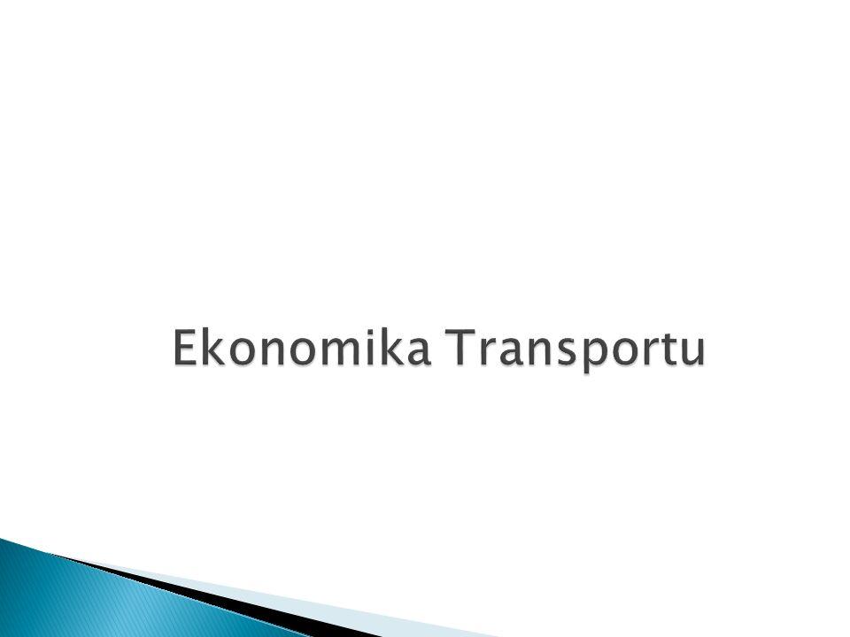Przedmiot ekonomiki transportu (2/5) Zakres przedmiotowy ekonomiki transportu: gałęzie transportu – bada ich specyfikę ekonomiczną, techniczną organizacyjną i funkcjonalną, substytucyjność i komplementarność; formy transportu: rodzaje usług (towarowe, pasażerskie, spedycyjne, pomocnicze), formy własności, status transportu (publiczny, własny, branżowy), zasięg działania, technologie przewozu; wyposażenie transportowe kraju – infrastruktura (aspekt ilościowy, jakościowy, opłacalność inwestycji, wpływ na życie społeczno- gospodarcze).