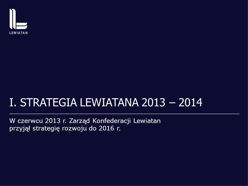 Lewiatan 2013 – gdzie jesteśmy 20082013 54 związki regionalne i branżowe 62 17 członkowie bezpośredni 25 600 tys.