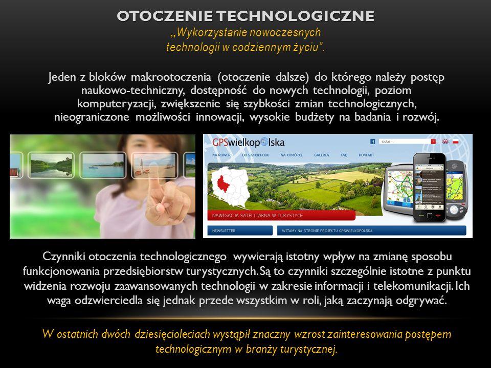 OTOCZENIE TECHNOLOGICZNE OTOCZENIE TECHNOLOGICZNE Wykorzystanie nowoczesnych technologii w codziennym życiu. Jeden z bloków makrootoczenia (otoczenie
