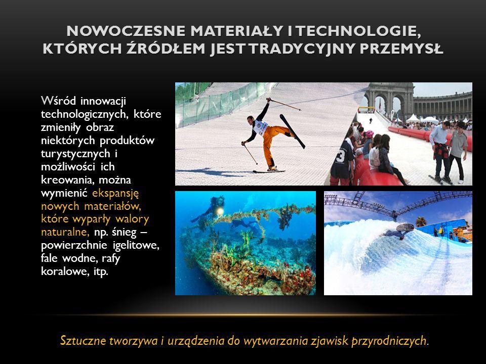 NOWOCZESNE MATERIAŁY I TECHNOLOGIE, KTÓRYCH ŹRÓDŁEM JEST TRADYCYJNY PRZEMYSŁ Wśród innowacji technologicznych, które zmieniły obraz niektórych produkt