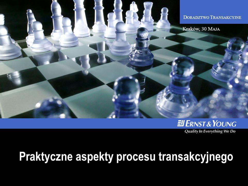 D ORADZTWO T RANSAKCYJNE Praktyczne aspekty procesu transakcyjnego Kraków, 30 M AJA