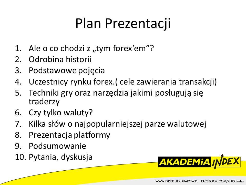 Plan Prezentacji 1.Ale o co chodzi z tym forexem.