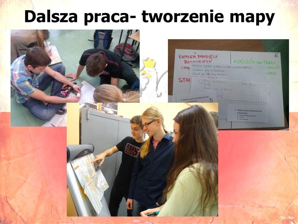 Dalsza praca- tworzenie mapy