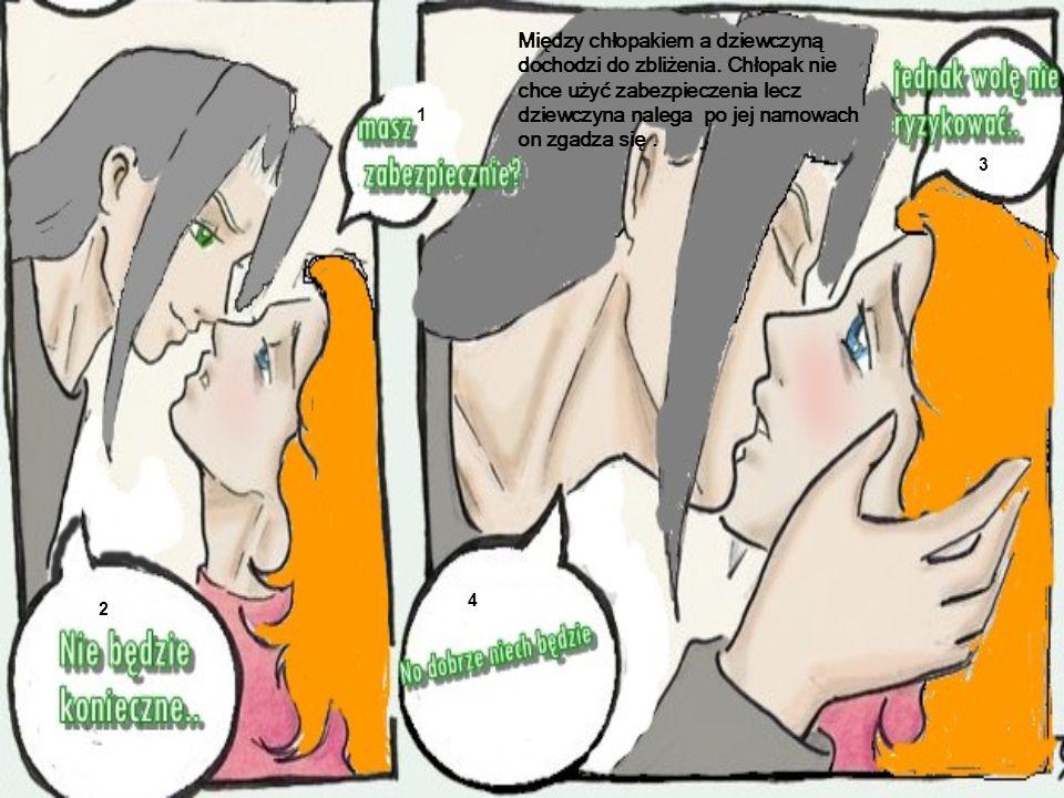Między chłopakiem a dziewczyną dochodzi do zbliżenia.