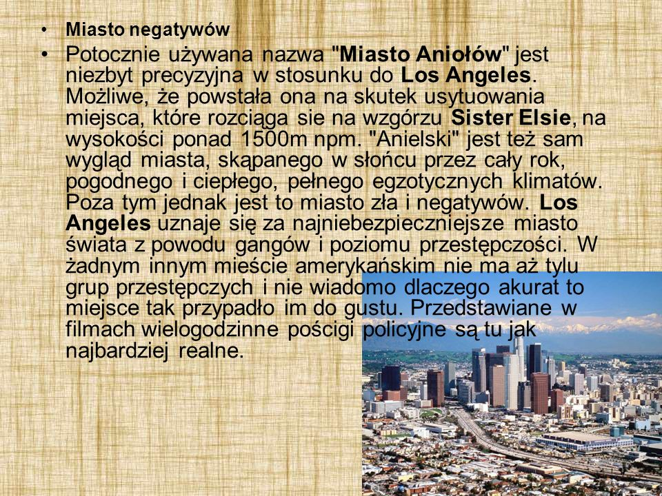 Miasto negatywów Potocznie używana nazwa