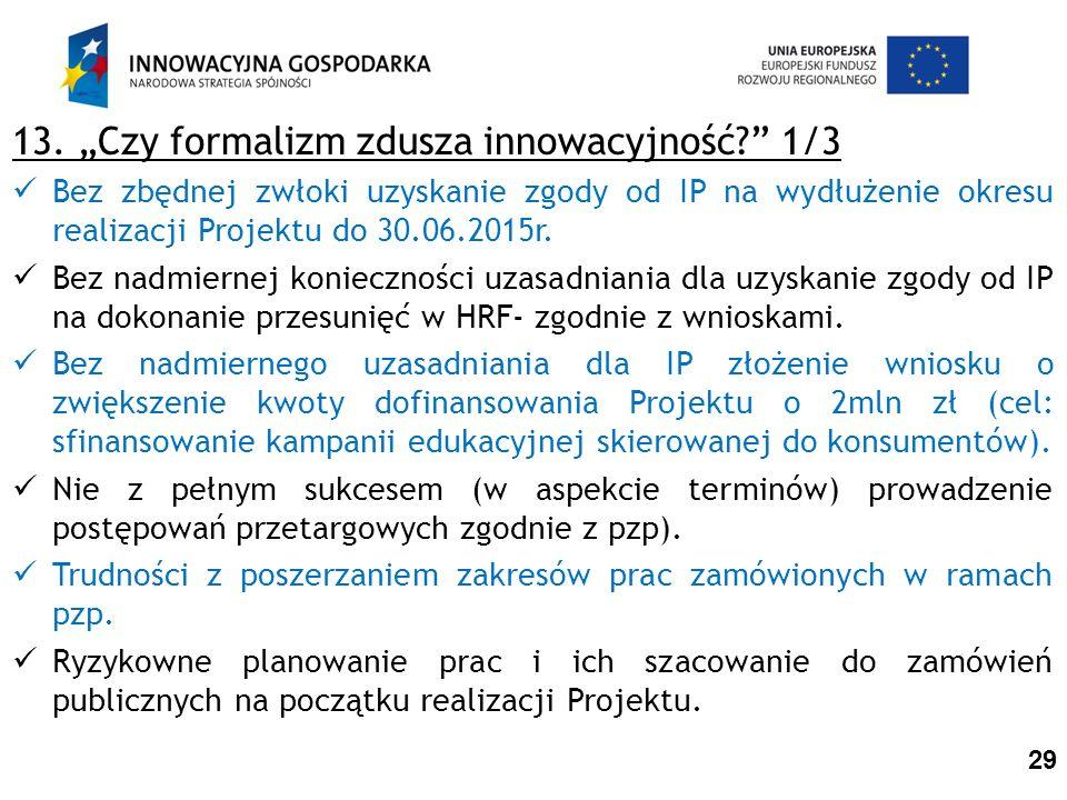 13.Czy formalizm zdusza innowacyjność.