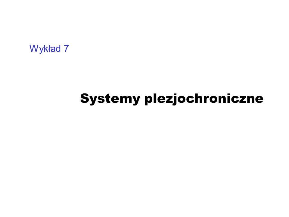 Wykład 7 Systemy plezjochroniczne