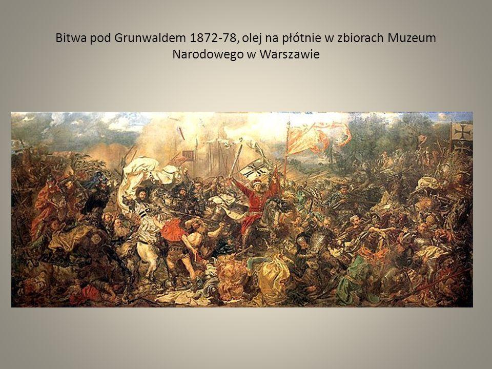 Bitwa pod Grunwaldem 1872-78, olej na płótnie w zbiorach Muzeum Narodowego w Warszawie