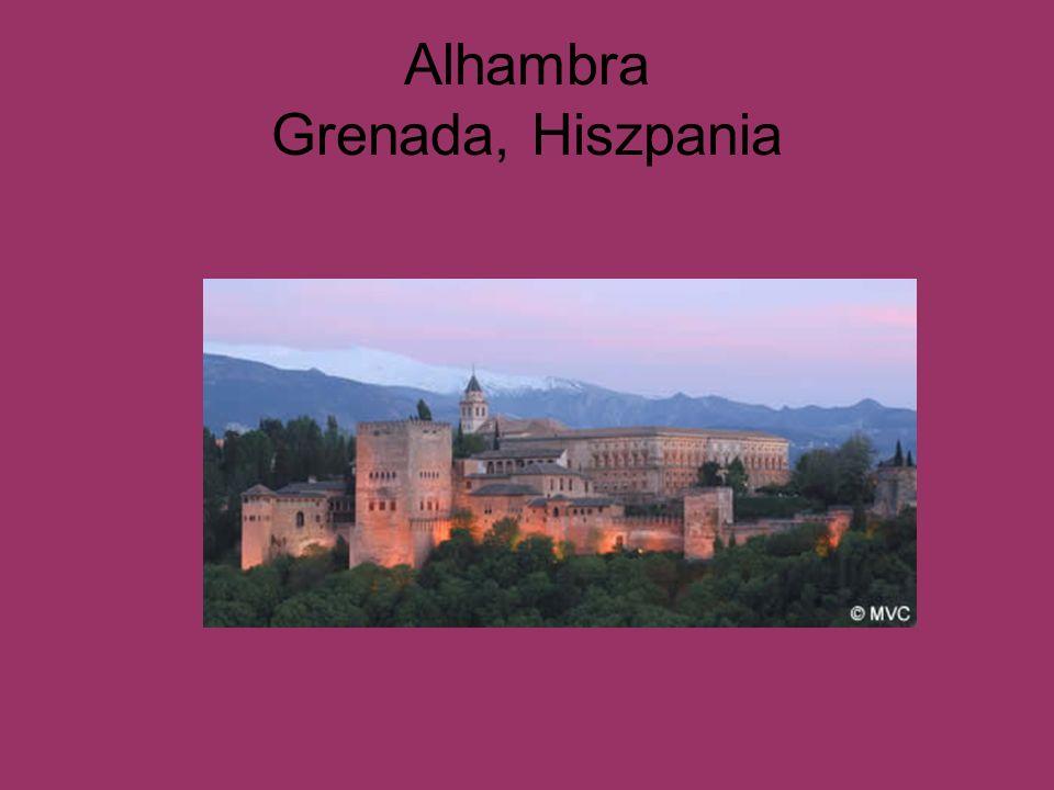 Alhambra Grenada, Hiszpania