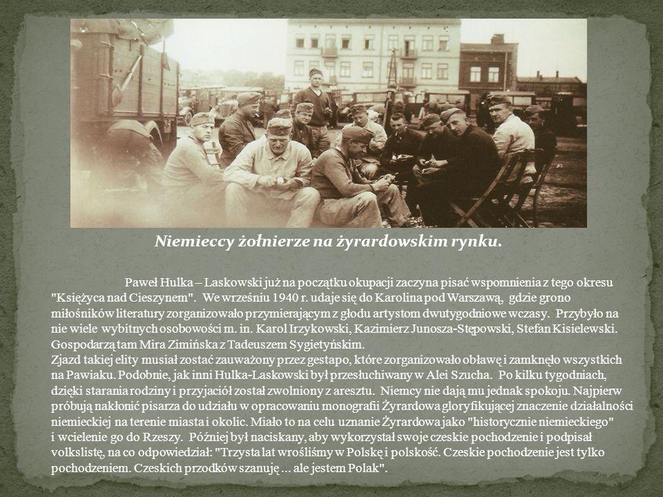 Paweł Hulka – Laskowski już na początku okupacji zaczyna pisać wspomnienia z tego okresu