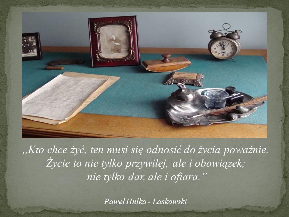 Gabinet Pisarza Pawła Hulki – Laskowskiego.Oddział Muzeum Mazowsza Zachodniego w Żyrardowie.