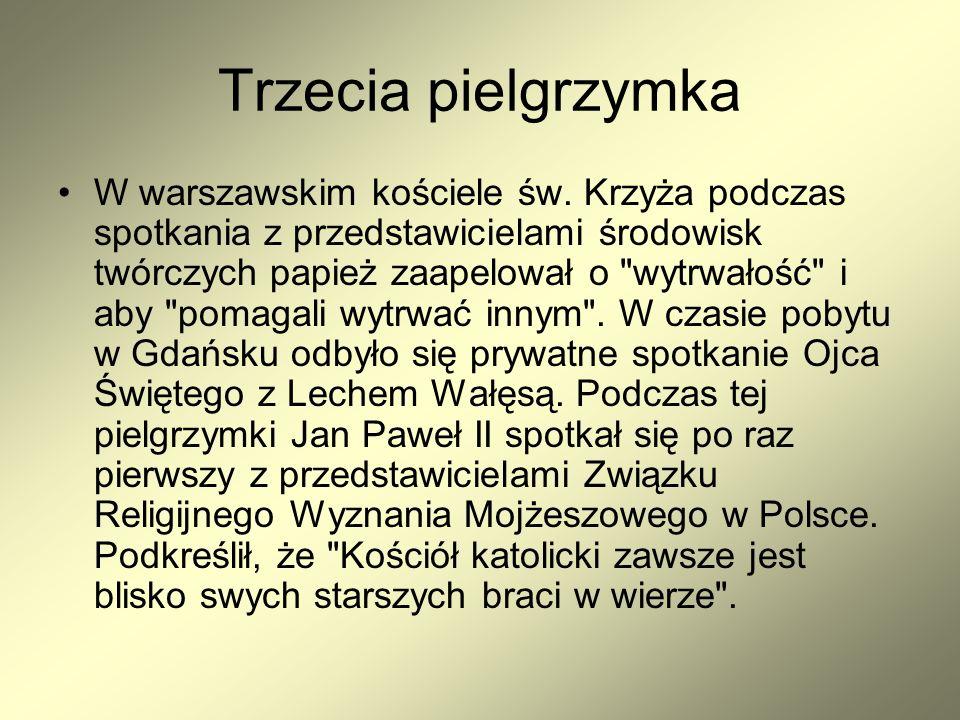 Trzecia pielgrzymka W warszawskim kościele św.