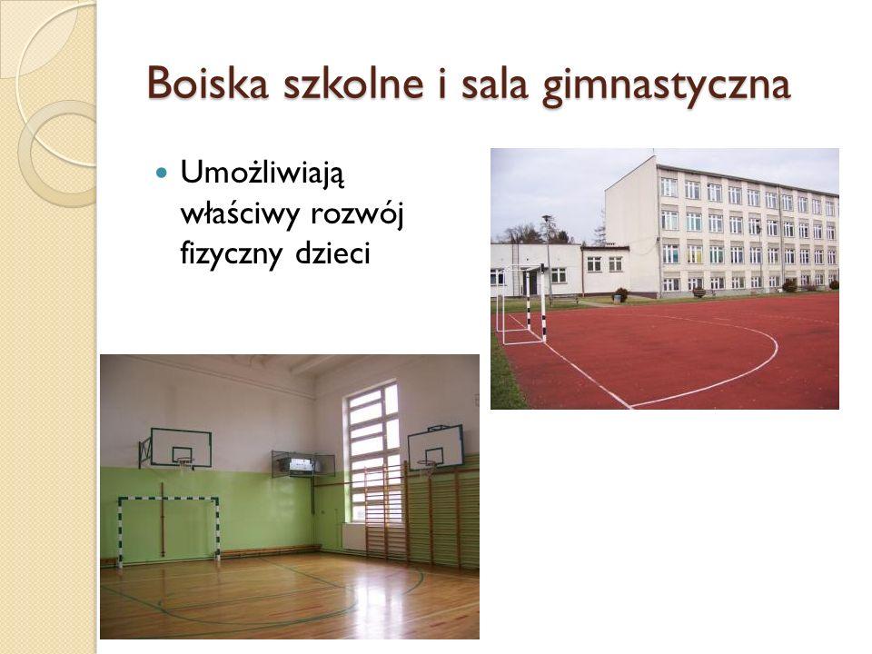 Boiska szkolne i sala gimnastyczna Umożliwiają właściwy rozwój fizyczny dzieci