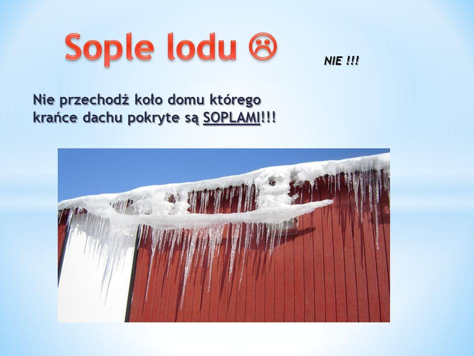 Nie przechodź koło domu którego krańce dachu pokryte są SOPLAMI!!! NIE !!!