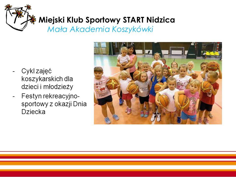 Miejski Klub Sportowy START Nidzica Mała Akademia Koszykówki -Cykl zajęć koszykarskich dla dzieci i młodzieży -Festyn rekreacyjno- sportowy z okazji D