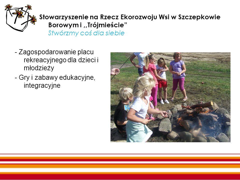Stowarzyszenie na Rzecz Ekorozwoju Wsi w Szczepkowie Borowym i,,Trójmieście Stwórzmy coś dla siebie - Zagospodarowanie placu rekreacyjnego dla dzieci