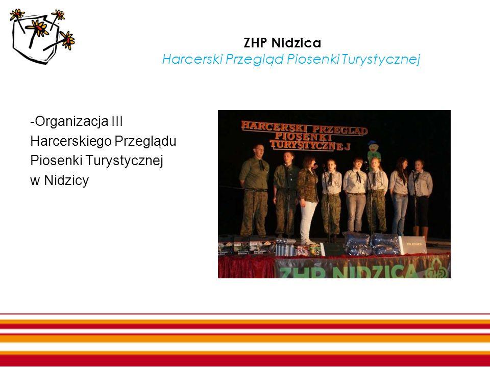 ZHP Nidzica Harcerski Przegląd Piosenki Turystycznej -Organizacja III Harcerskiego Przeglądu Piosenki Turystycznej w Nidzicy
