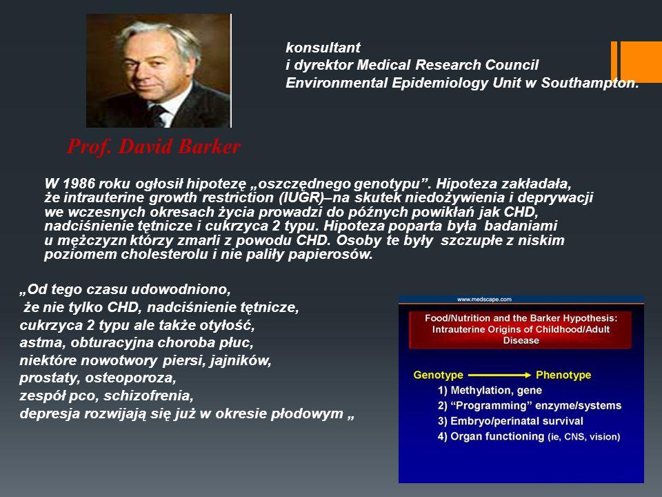 W 1986 roku ogłosił hipotezę oszczędnego genotypu. Hipoteza zakładała, że intrauterine growth restriction (IUGR)–na skutek niedożywienia i deprywacji