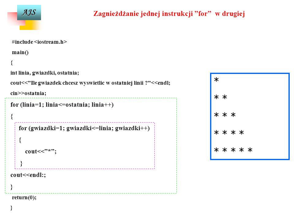 AJS Zamiana na duże litery #include #define max 30 main() { char nazwa [max]; int x; cout<<Podaj nazwe: <<endl; cin>>nazwa; for (x=0; x<strlen(nazwa);