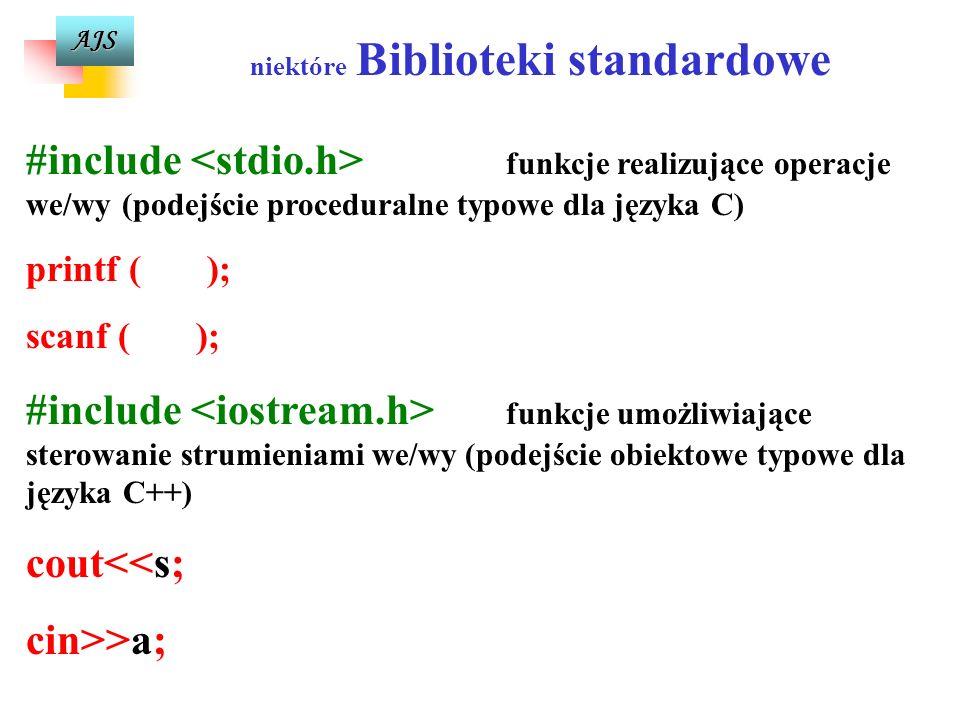 AJS WSKAZÓWKI SKŁADNIOWE celem uniknięcia błędów i zwiększenia przejrzystości programów 1. 1.Po słowach kluczowych robimy odstęp. 2. 2.Instrukcję pust
