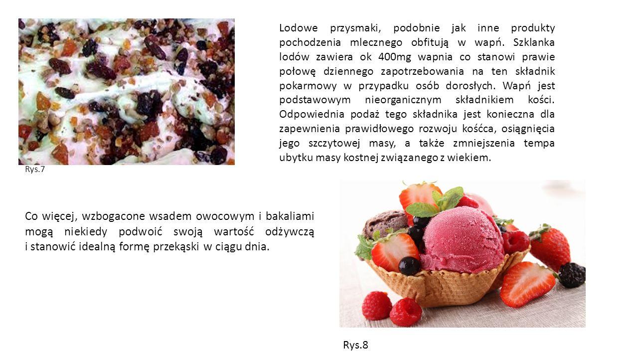 Rys.7 Co więcej, wzbogacone wsadem owocowym i bakaliami mogą niekiedy podwoić swoją wartość odżywczą i stanowić idealną formę przekąski w ciągu dnia.