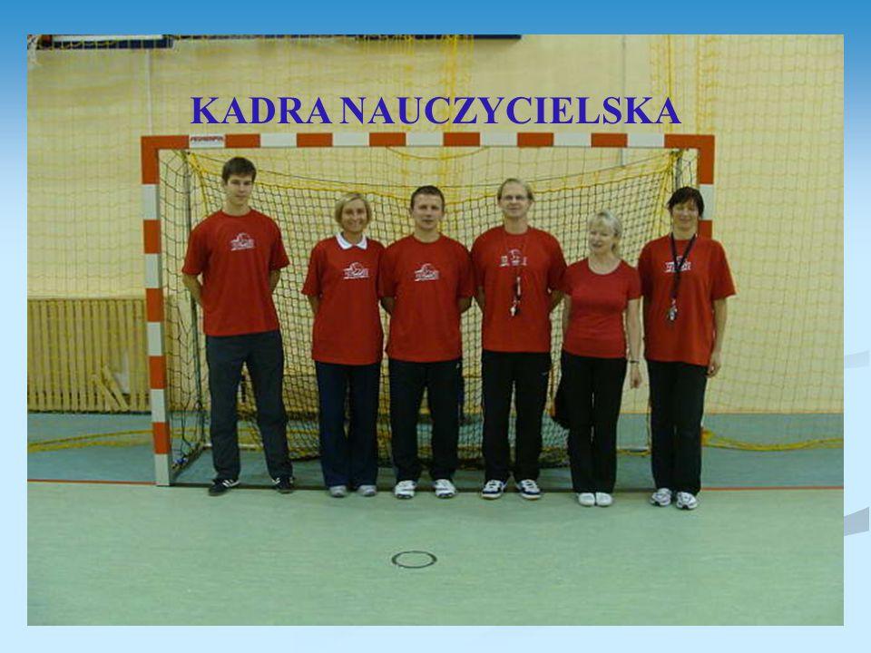 Wykształcenie wyższe magisterskie; Trener piłki nożnej – 1 osoba; Instruktor: piłki siatkowej – 3 osoby; koszykówki – 1 osoba; fitness – 1 osoba; tańca – 1 osoba; Wszyscy posiadają uprawnienia do prowadzenia zajęć gimnastyki korekcyjnej.