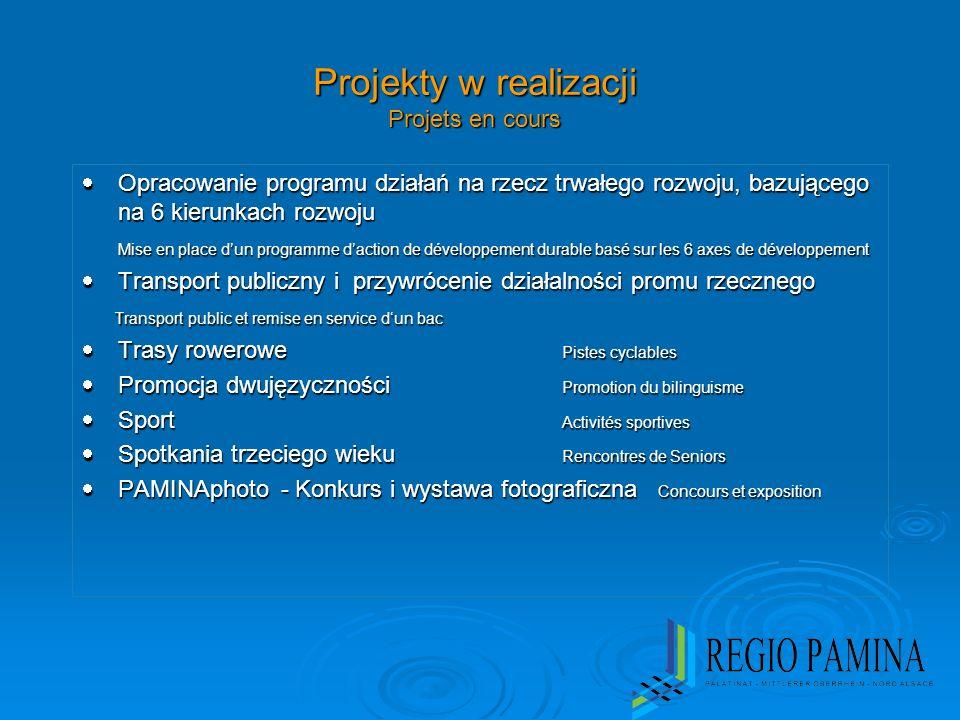 Projekty w realizacji Projets en cours Opracowanie programu działań na rzecz trwałego rozwoju, bazującego na 6 kierunkach rozwoju Opracowanie programu