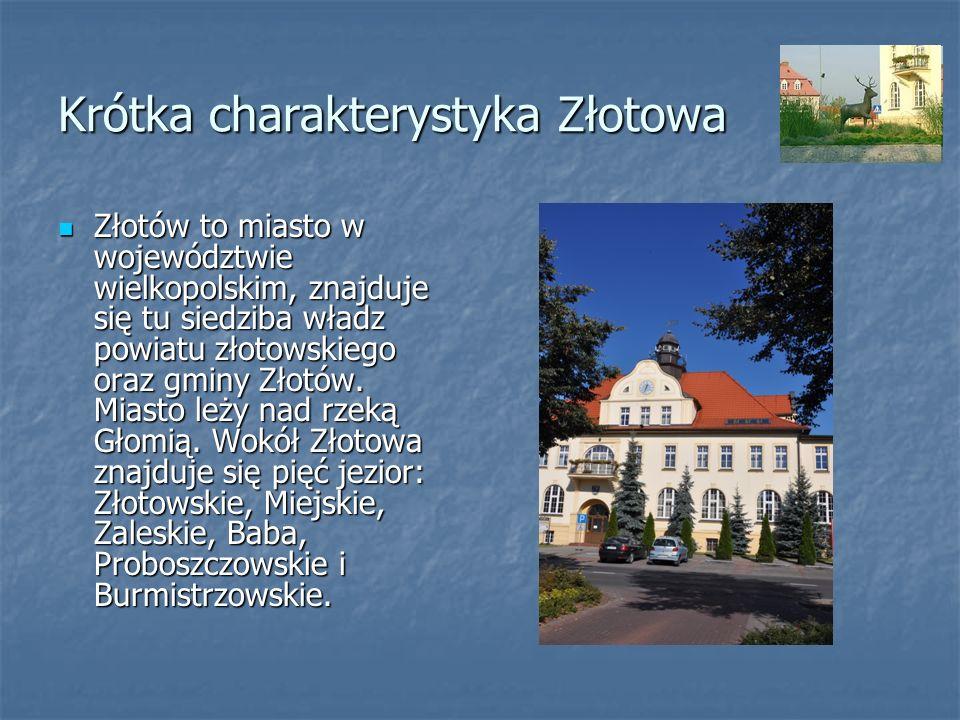 Krótka charakterystyka Złotowa Złotów to miasto w województwie wielkopolskim, znajduje się tu siedziba władz powiatu złotowskiego oraz gminy Złotów. M