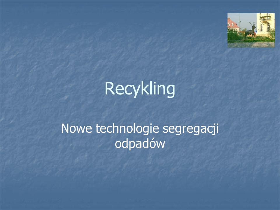 Recykling Nowe technologie segregacji odpadów