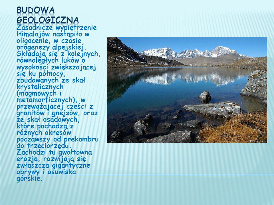 Zasadnicze wypiętrzenie Himalajów nastąpiło w oligocenie, w czasie orogenezy alpejskiej.