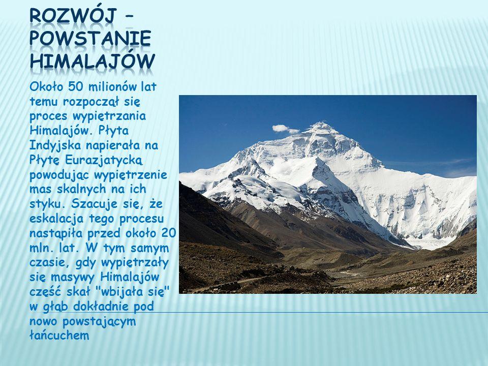 Około 50 milionów lat temu rozpoczął się proces wypiętrzania Himalajów.