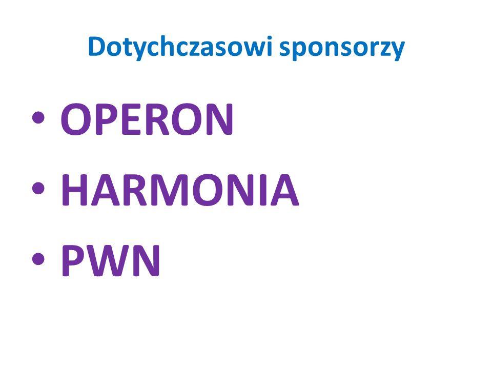 Dotychczasowi sponsorzy OPERON HARMONIA PWN
