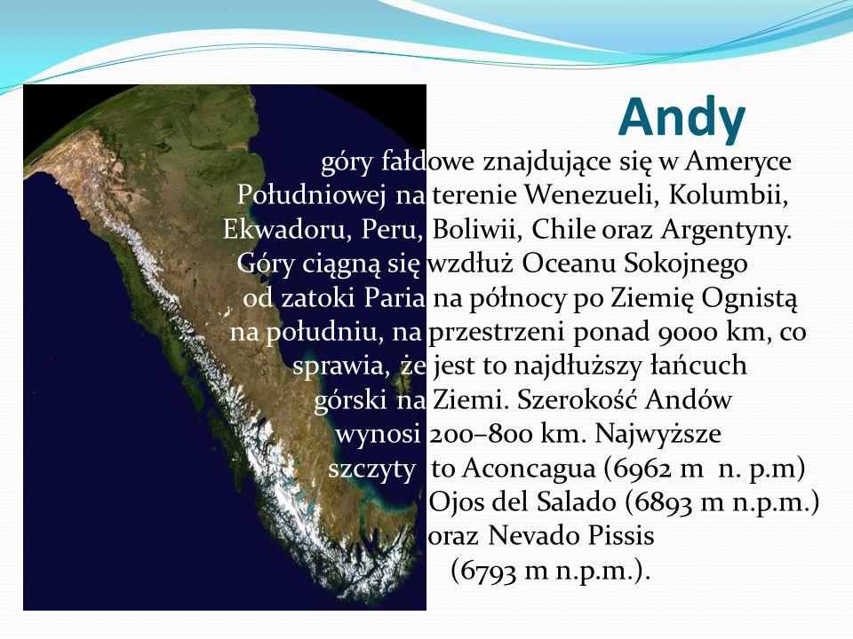 Andy góry fałdowe znajdujące się w Ameryce Południowej na terenie Wenezueli, Kolumbii, Ekwadoru, Peru, Boliwii, Chile oraz Argentyny. Góry ciągną się