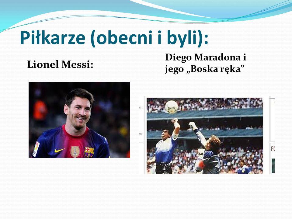 Piłkarze (obecni i byli): Lionel Messi: Diego Maradona i jego Boska ręka