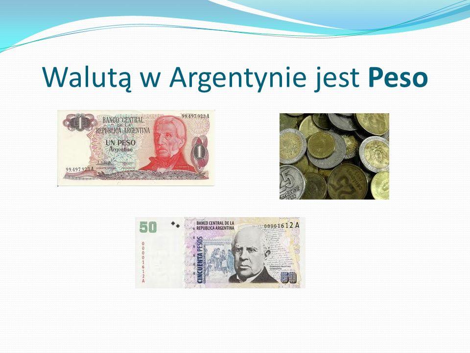 Walutą w Argentynie jest Peso