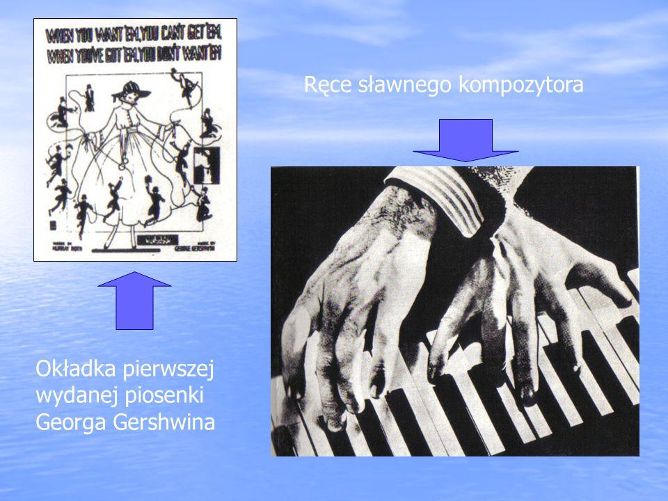 Okładka pierwszej wydanej piosenki Georga Gershwina Ręce sławnego kompozytora