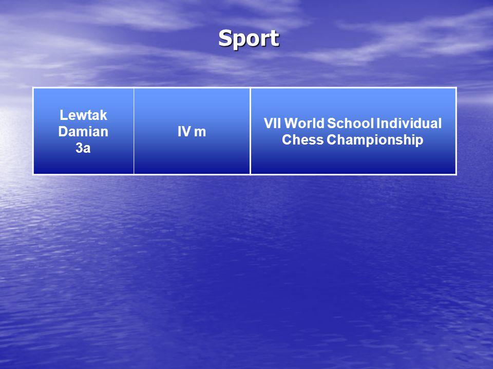 Sport Lewtak Damian 3a IV m VII World School Individual Chess Championship