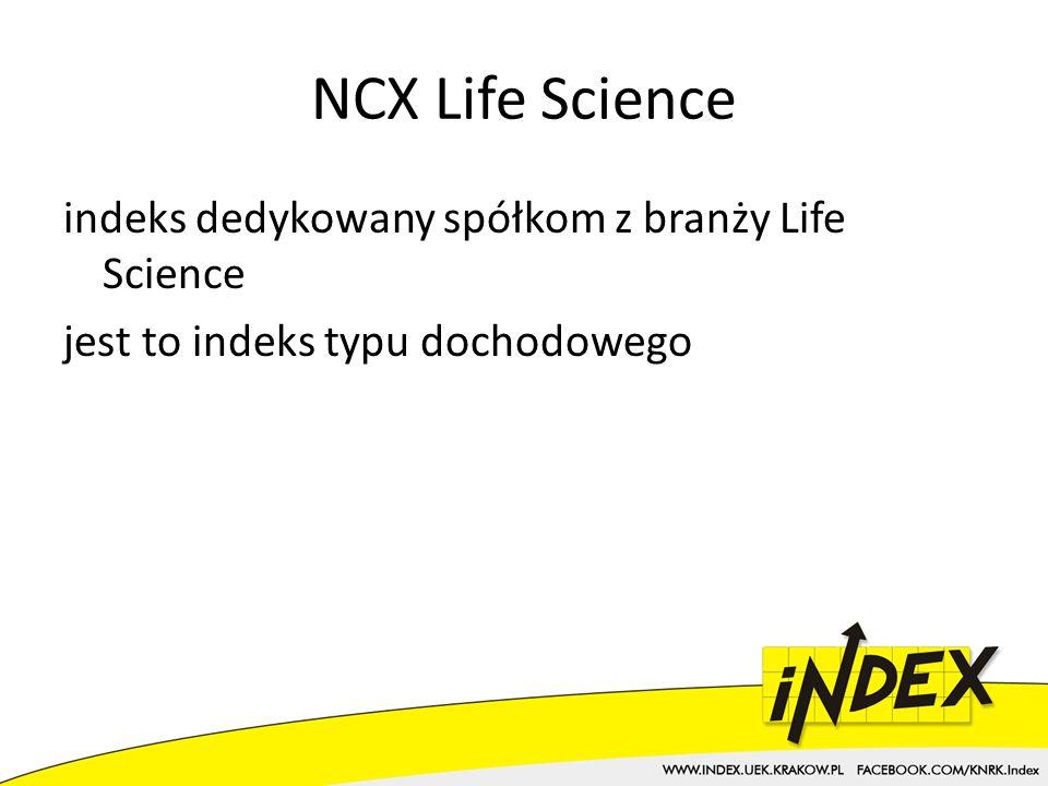 NCX Life Science indeks dedykowany spółkom z branży Life Science jest to indeks typu dochodowego