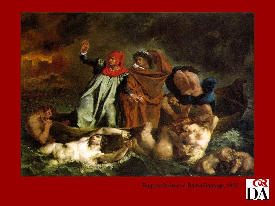 Eugene Delacroix, Barka Dantego, 1822