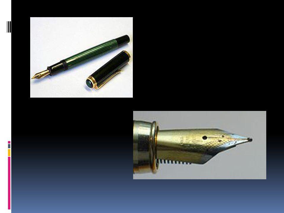 Wieczne pióro Wieczne pióro przyrząd do pisania na papierze, w którym materiałem pisarskim jest płynny atrament, spływający pod wpływem siły grawitacji przez kapilarę do metalowej końcówki zwanej stalówką.