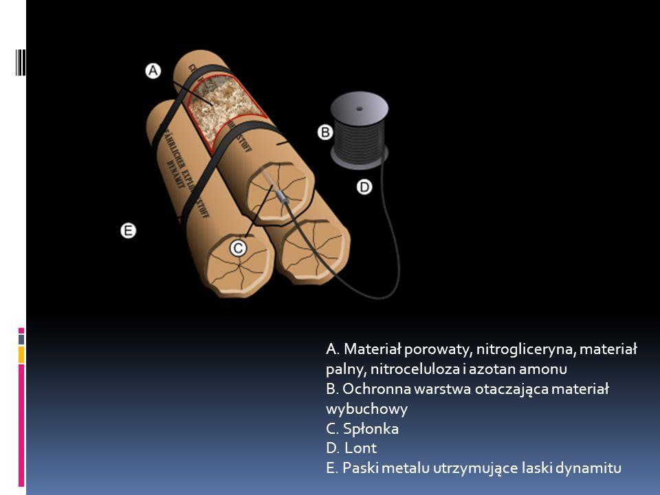 Dynamit Dynamit – materiał wybuchowy wynaleziony przez Alfreda Nobla opatentowany w 1867 roku.