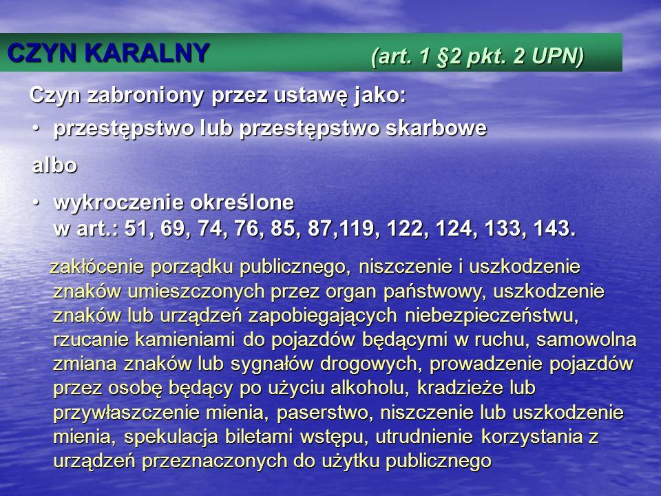 CZYN KARALNY Art.