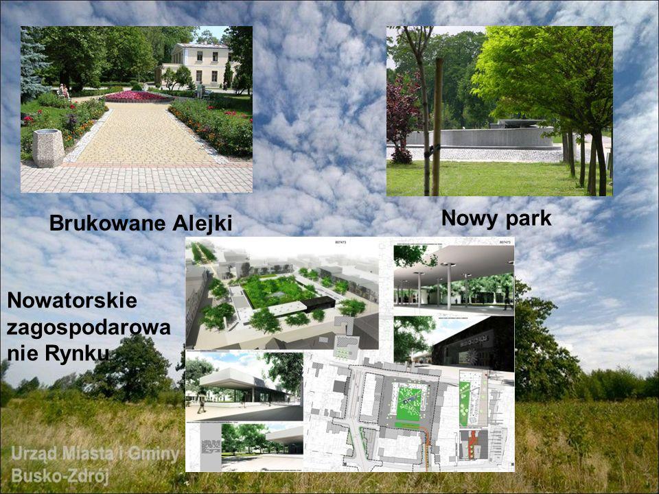 Brukowane Alejki Nowy park Nowatorskie zagospodarowa nie Rynku