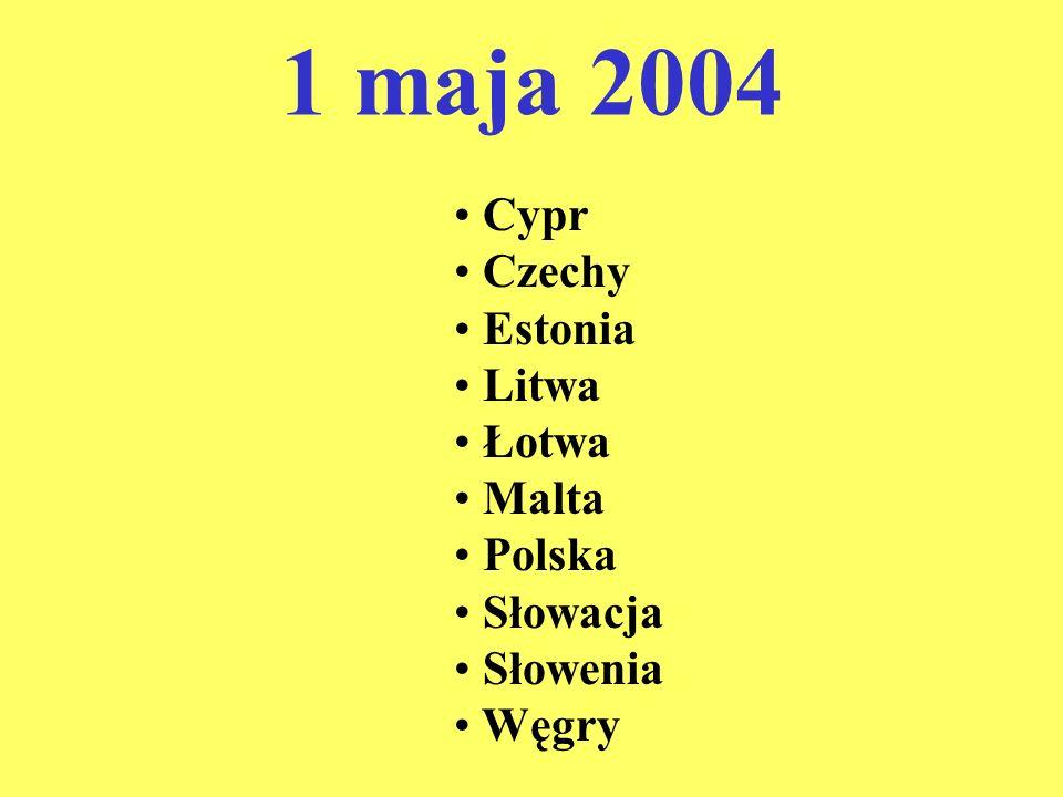 1 maja 2004 Cypr Czechy Estonia Litwa Łotwa Malta Polska Słowacja Słowenia Węgry